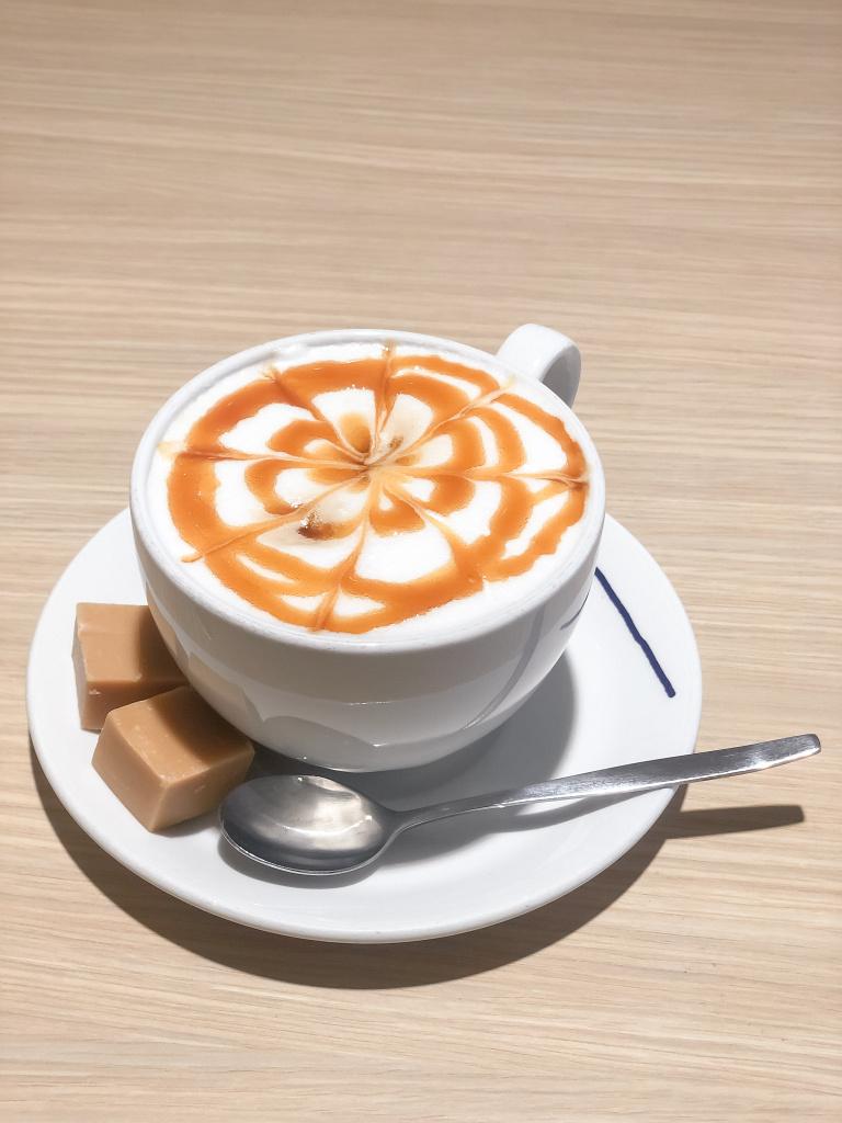 De befaamde caramelcappuccino