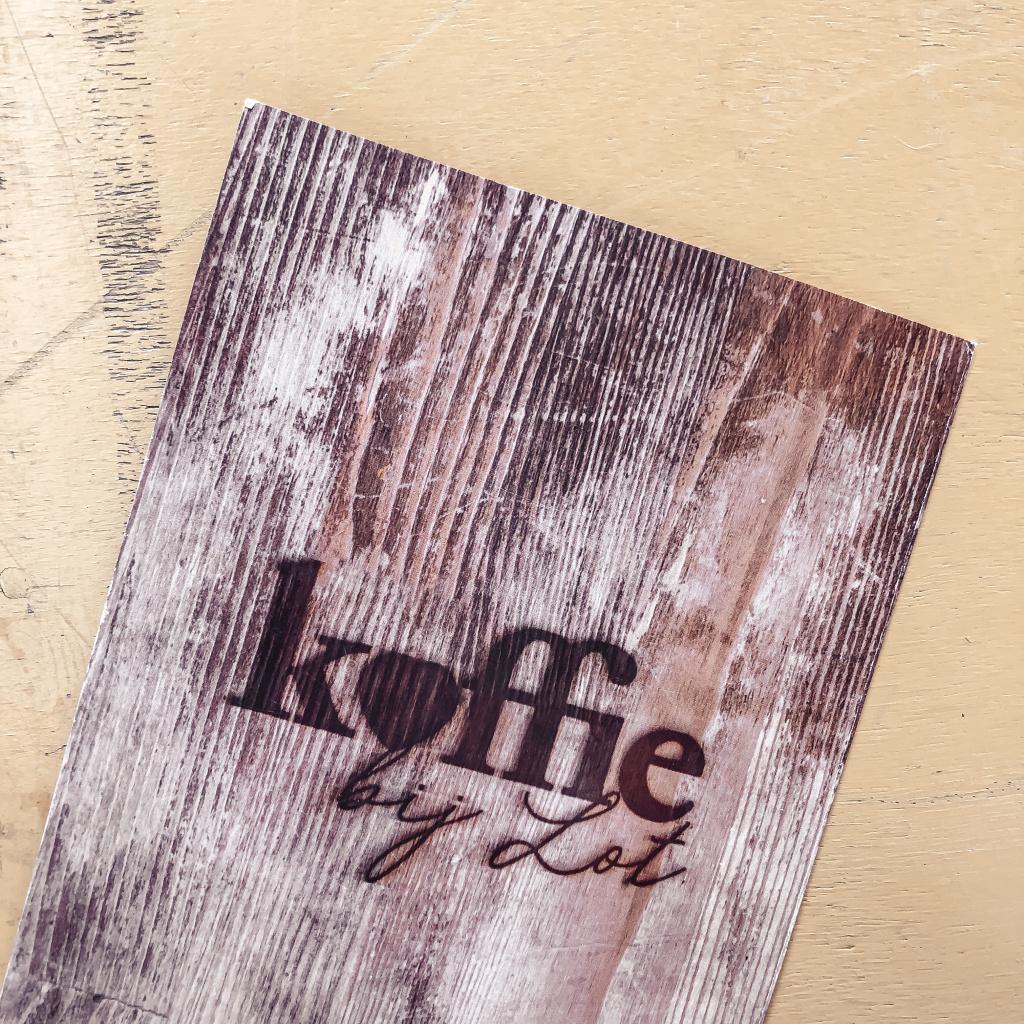 Menukaart Koffie bij Lot