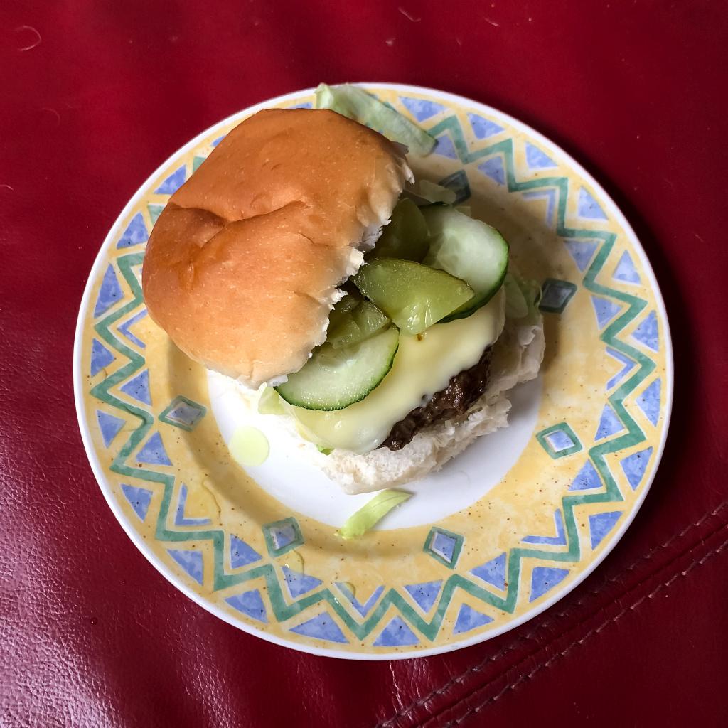 Zelfgemaakt broodje hamburger