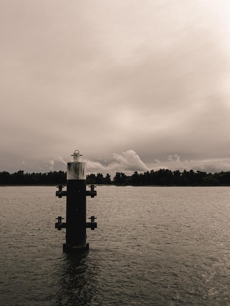 Meerpaal in de Merwede
