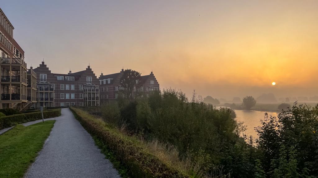 Zonsopgang bij 7e Bastion, Gorinchem